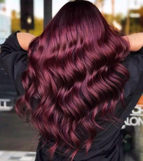 wine hair
